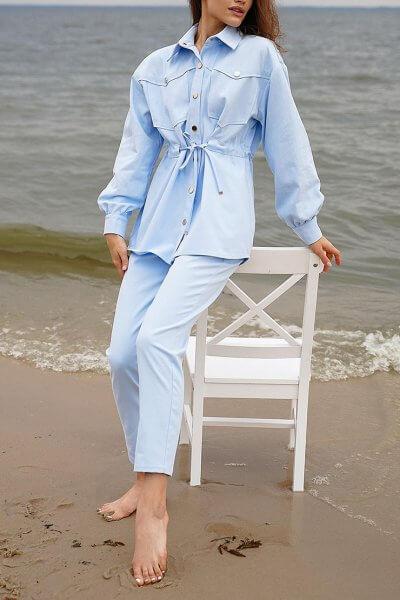 Джинсовый костюм Nala свободного кроя MC_MY0820-1, фото 1 - в интеренет магазине KAPSULA
