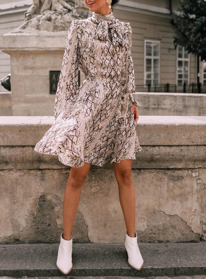 Шифоновое платье с бантом Solange MC_s_MY2530, фото 1 - в интеренет магазине KAPSULA