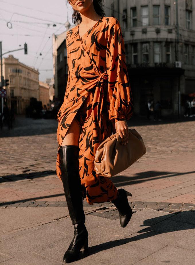 Силуэтное платье на запах Iman MC_s_MY2630, фото 1 - в интеренет магазине KAPSULA