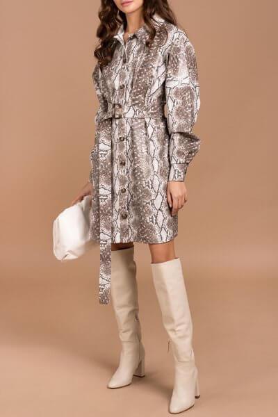 Платье-рубашка из эко кожи Kaya MC_s_MY3130, фото 1 - в интеренет магазине KAPSULA