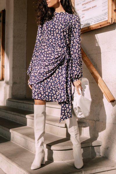 Платье мини с объемными рукавами Wild MC_s_MY3230, фото 4 - в интеренет магазине KAPSULA