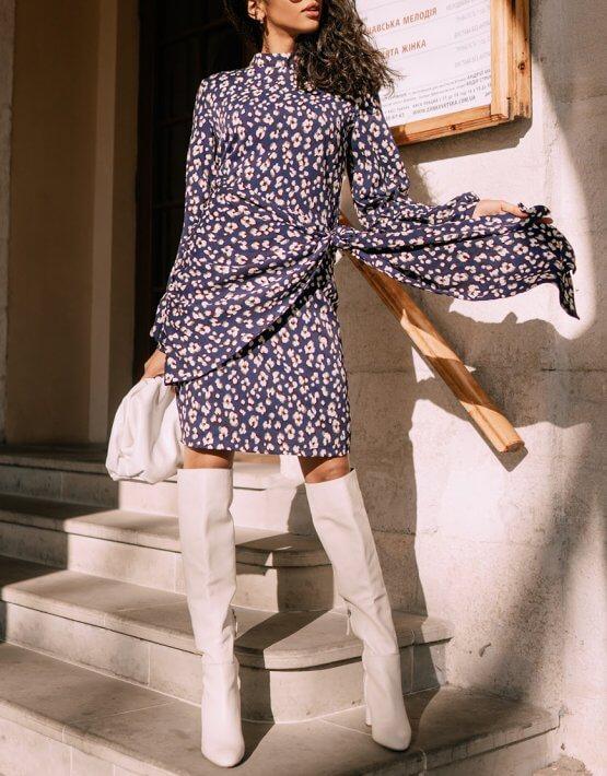 Платье мини с объемными рукавами Wild MC_s_MY3230, фото 6 - в интеренет магазине KAPSULA