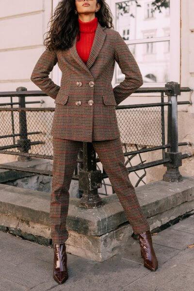 Костюм из шерсти в клетку Kate MC_s_MY3730, фото 1 - в интеренет магазине KAPSULA