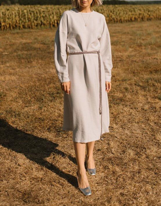 Платье со спущенными рукавами MNTK_MTDRS2011, фото 5 - в интеренет магазине KAPSULA