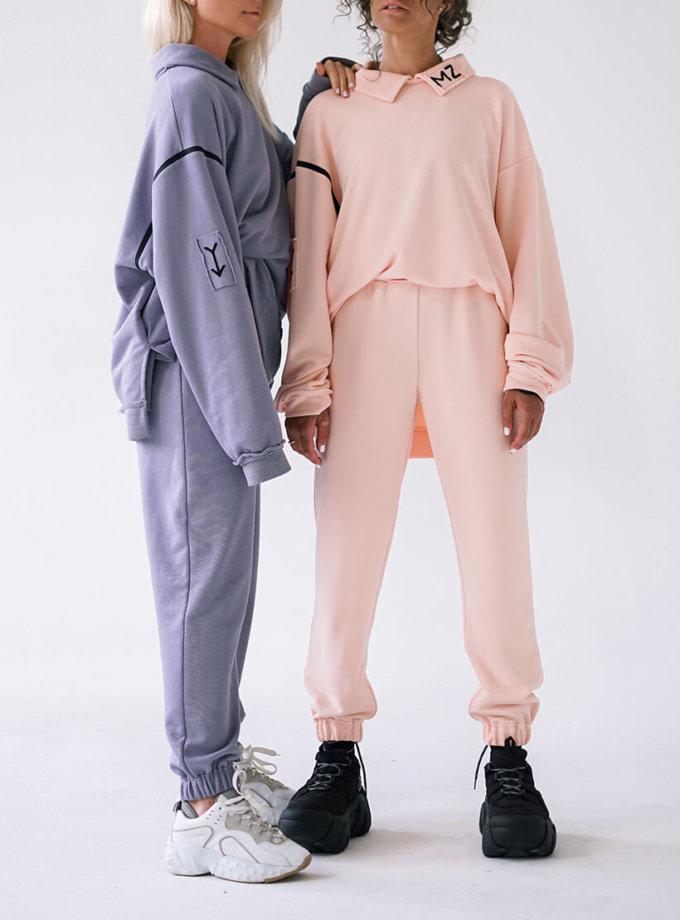 Хлопковые брюки MZRB_MZ_SS20_3_pink, фото 1 - в интернет магазине KAPSULA