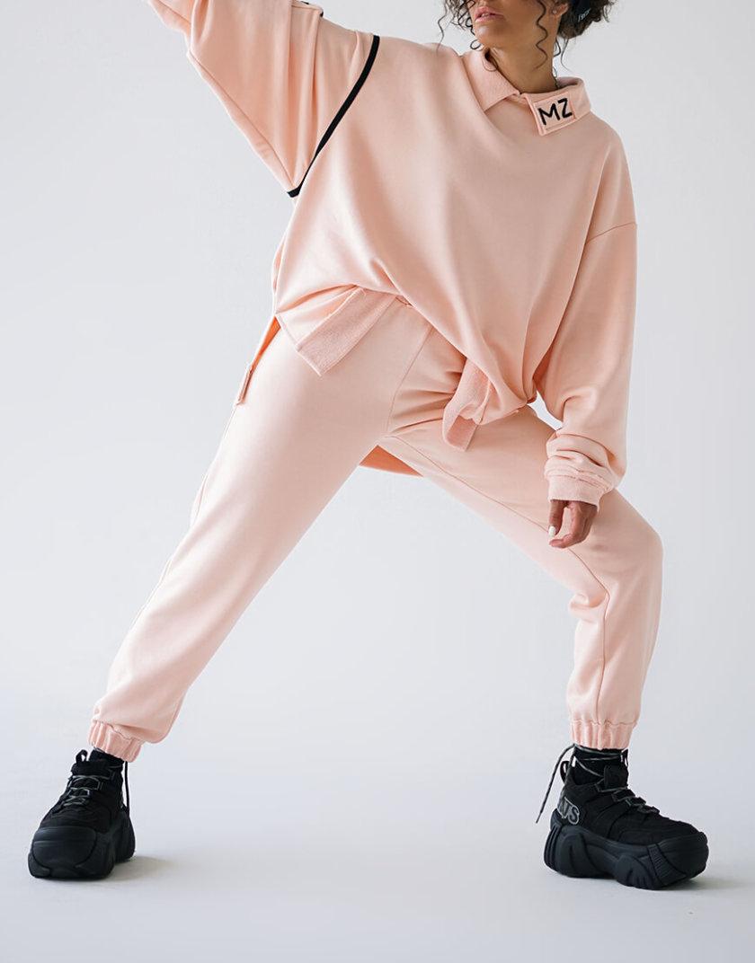 Хлопковый свитшот с воротником MZRB_MZ_SS20_1_pink, фото 1 - в интернет магазине KAPSULA