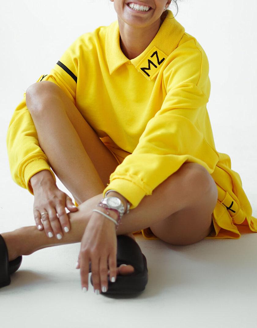 Хлопковый свитшот с воротником MZRB_MZ_SS20_1_yellow, фото 1 - в интеренет магазине KAPSULA