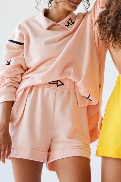 Короткие шорты из хлопка MZRB_MZ_SS20_2_pink, фото 3 - в интеренет магазине KAPSULA