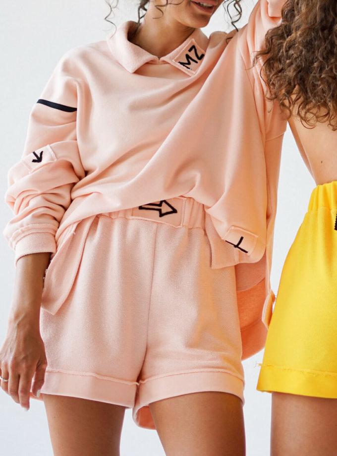 Короткие шорты из хлопка MZRB_MZ_SS20_2_pink, фото 1 - в интеренет магазине KAPSULA