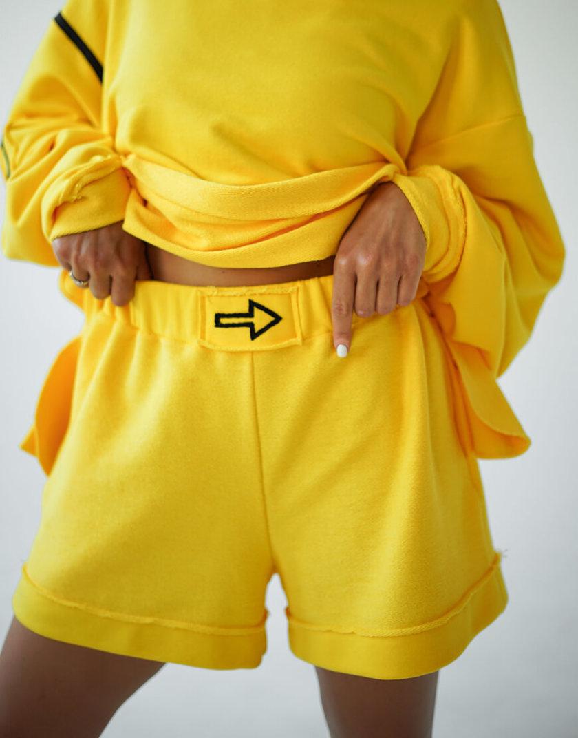 Короткие шорты из хлопка MZRB_MZ_SS20_2_yellow, фото 1 - в интеренет магазине KAPSULA