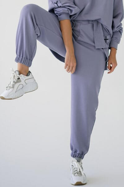 Хлопковые брюки MZRB_MZ_SS20_3_lavanda, фото 2 - в интеренет магазине KAPSULA
