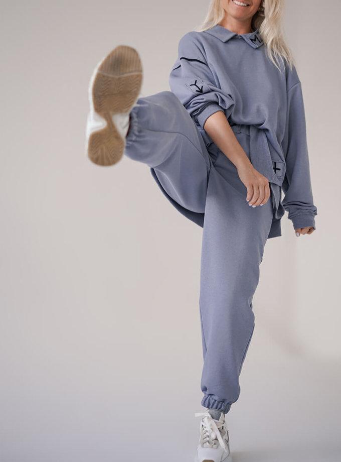 Хлопковые брюки MZRB_MZ_SS20_3_lavanda, фото 1 - в интернет магазине KAPSULA