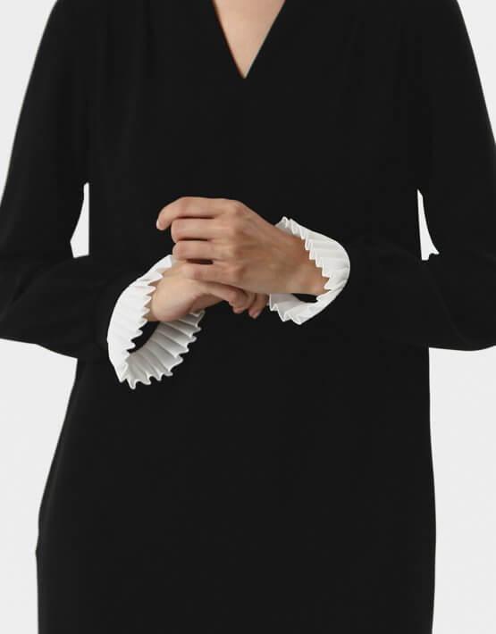 Платье с манжетами плиссе SHKO_18037002, фото 4 - в интеренет магазине KAPSULA