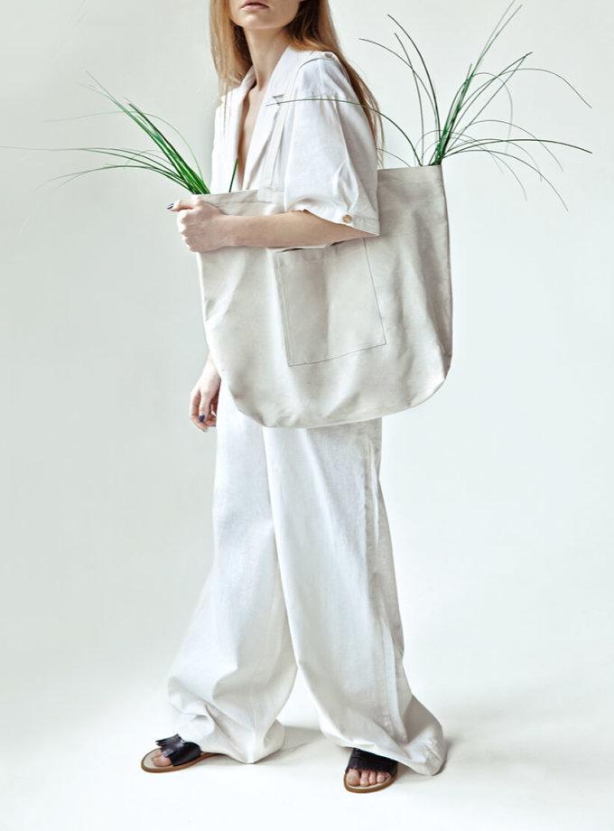 Широкие брюки You из льна SNDR_SSY15, фото 1 - в интернет магазине KAPSULA
