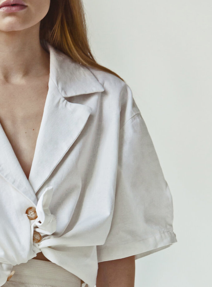 Льняная блуза You SNDR_SSY8a, фото 1 - в интернет магазине KAPSULA