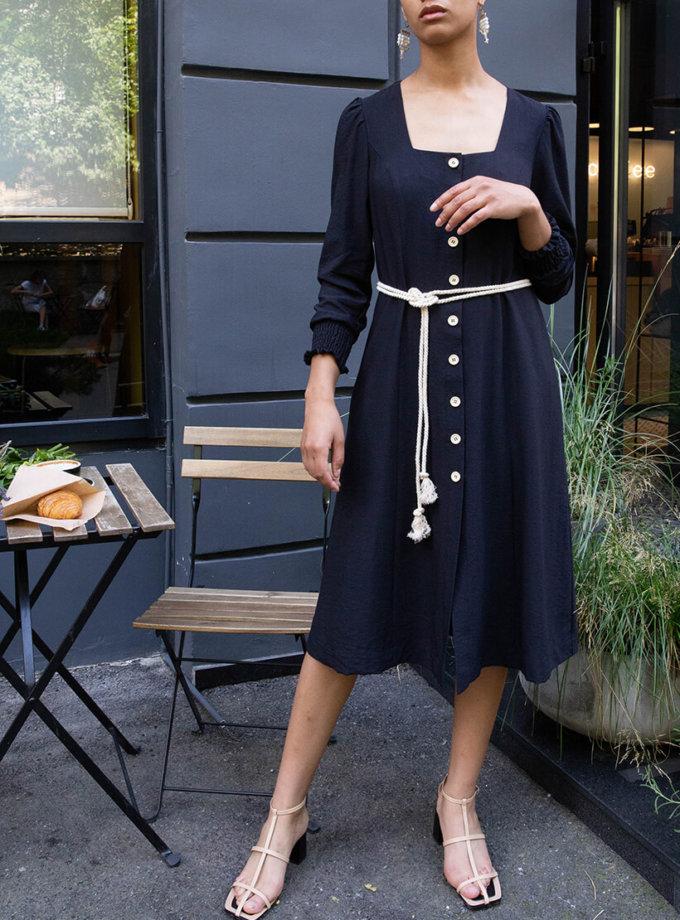 Хлопковое платье миди VONA_SS-20-64, фото 1 - в интеренет магазине KAPSULA