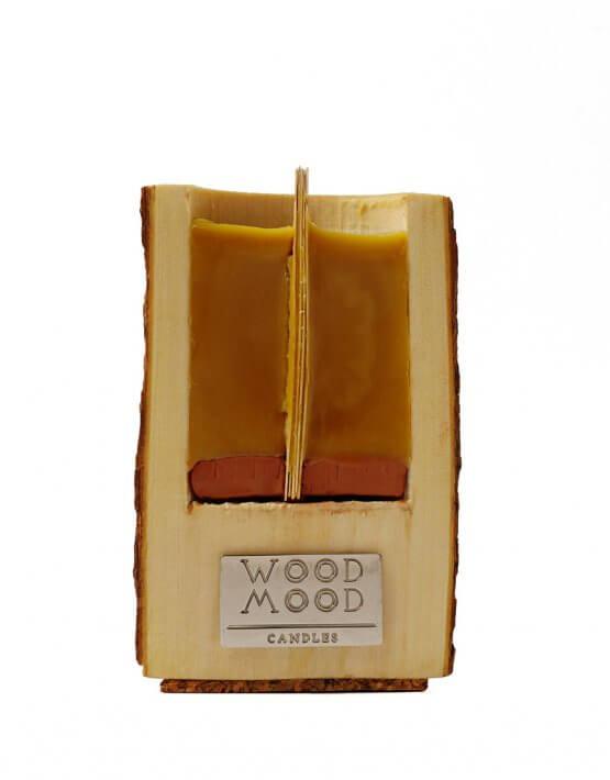 Свеча в дереве с ароматом меда и дерева M WM_ubud_m, фото 4 - в интеренет магазине KAPSULA
