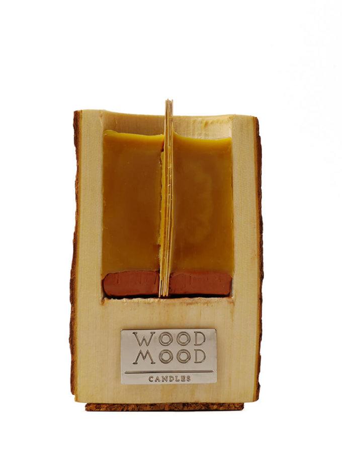 Свеча в дереве с ароматом меда и дерева S WM_ubud_s, фото 1 - в интеренет магазине KAPSULA