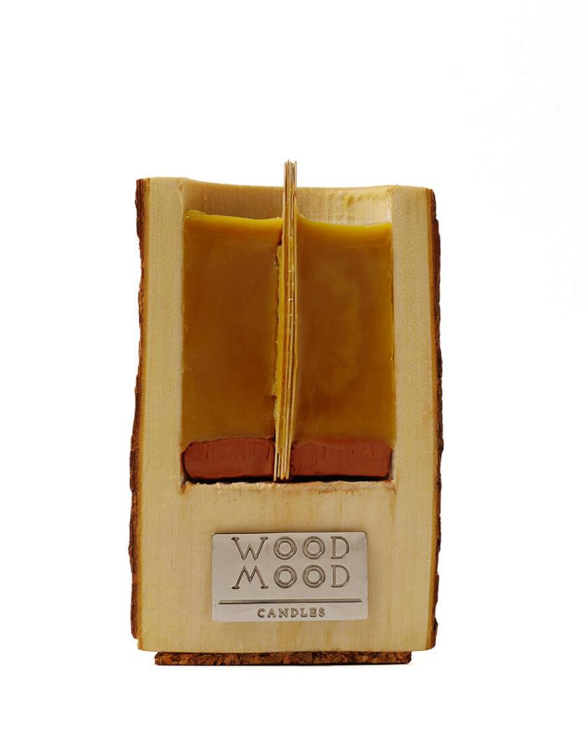 Свеча в дереве с ароматом кедра M WM_rocky_m, фото 1 - в интернет магазине KAPSULA