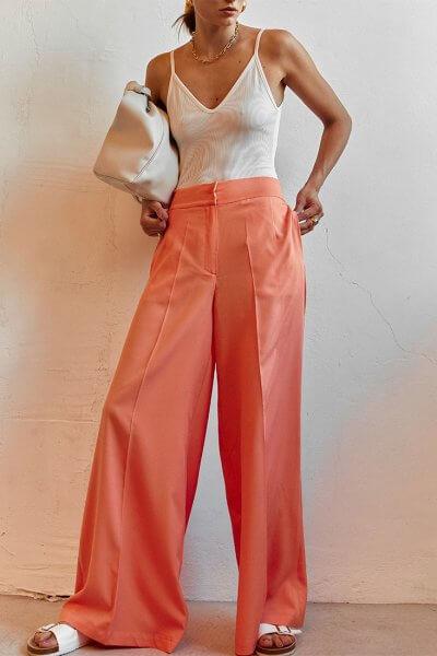 Легкие брюки клеш AD_050720, фото 1 - в интеренет магазине KAPSULA