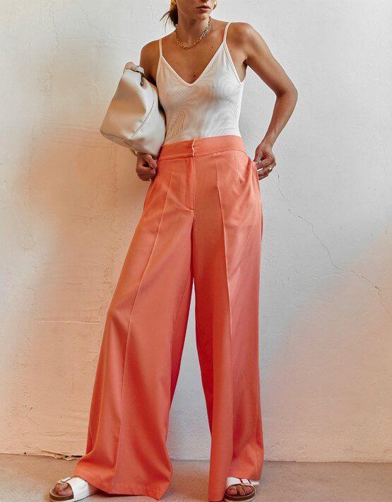 Легкие брюки клеш AD_050720, фото 4 - в интеренет магазине KAPSULA