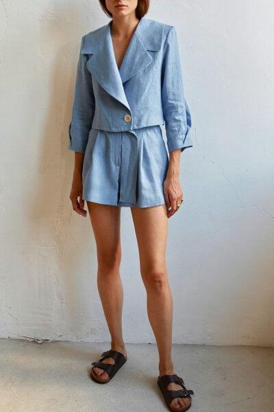 Короткие шорты из льна AD_070720, фото 1 - в интеренет магазине KAPSULA