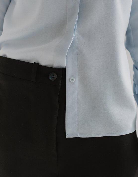 Широкие брюки CHEE с разрезом FRM_XIM_01B_B, фото 5 - в интеренет магазине KAPSULA