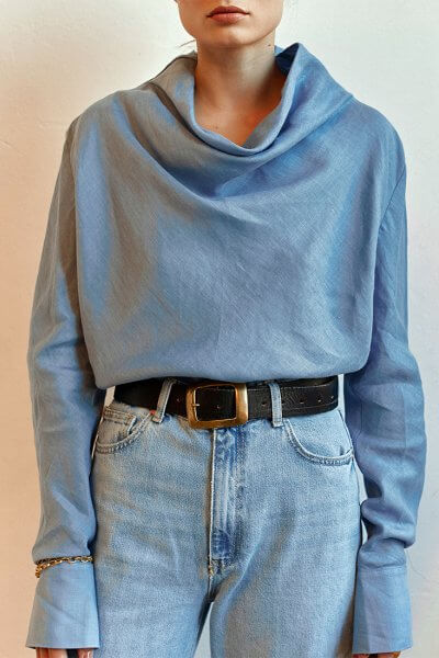 Льняная блуза AD_010720, фото 5 - в интеренет магазине KAPSULA