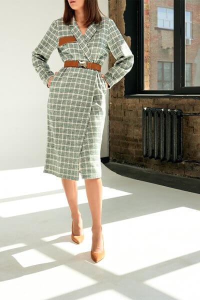 Платье-жакет из хлопка KS_FW-23-03, фото 4 - в интеренет магазине KAPSULA