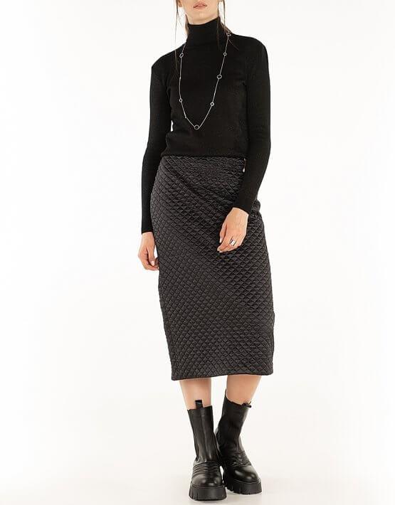 Стеганая юбка Black WNDR_fw2021_qsblck_11, фото 6 - в интеренет магазине KAPSULA