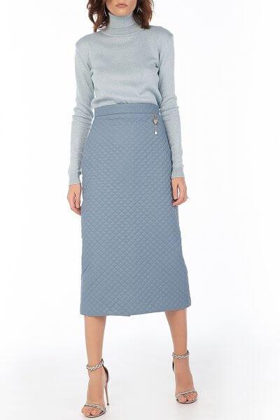 Стеганая юбка Blue WNDR_fw2021_qsblue_11, фото 5 - в интеренет магазине KAPSULA