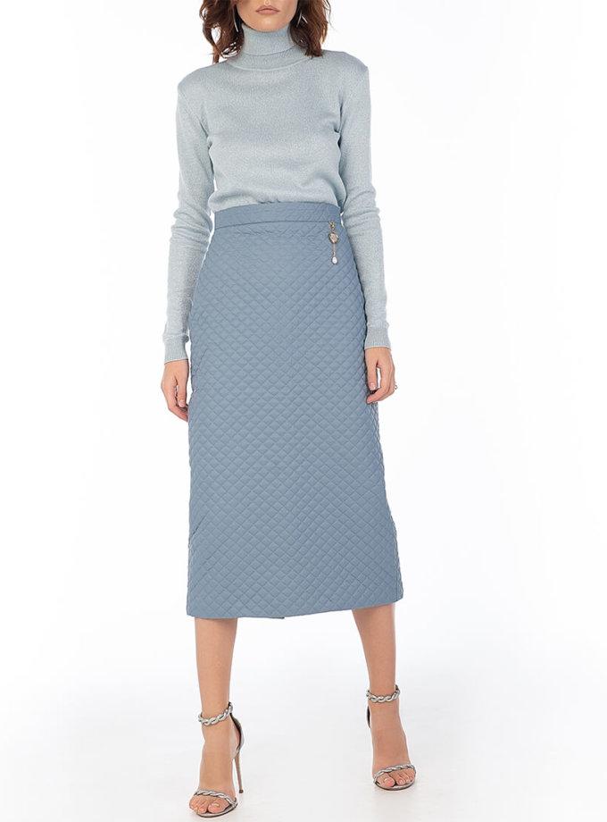 Стеганая юбка Blue WNDR_fw2021_qsblue_11, фото 1 - в интеренет магазине KAPSULA