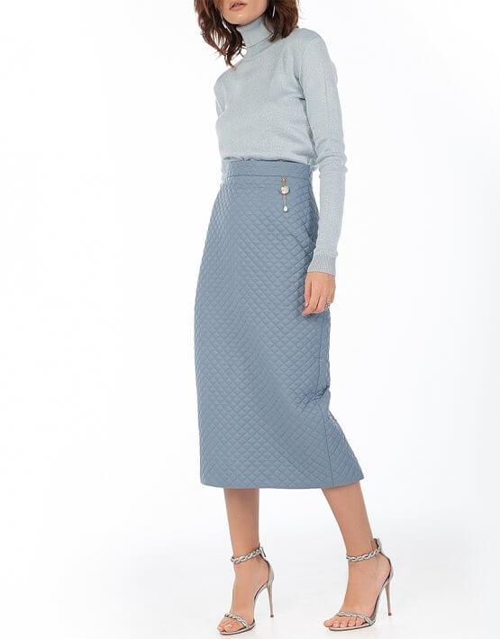 Стеганая юбка Blue WNDR_fw2021_qsblue_11, фото 6 - в интеренет магазине KAPSULA
