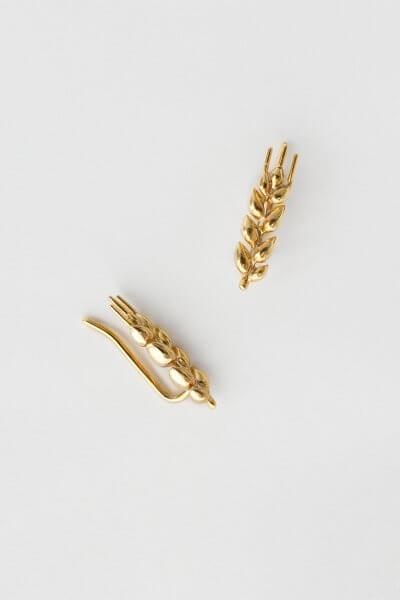 Серьги в позолоте Колоски короткие KVL_КРР03, фото 3 - в интеренет магазине KAPSULA