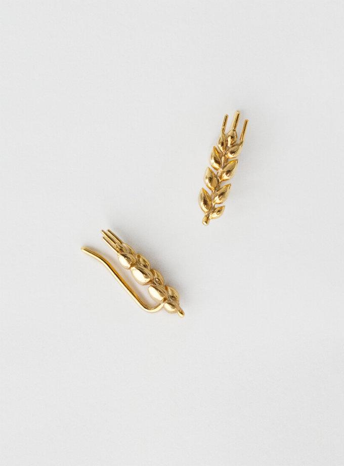 Серьги в позолоте Колоски короткие KVL_КРР03, фото 1 - в интернет магазине KAPSULA