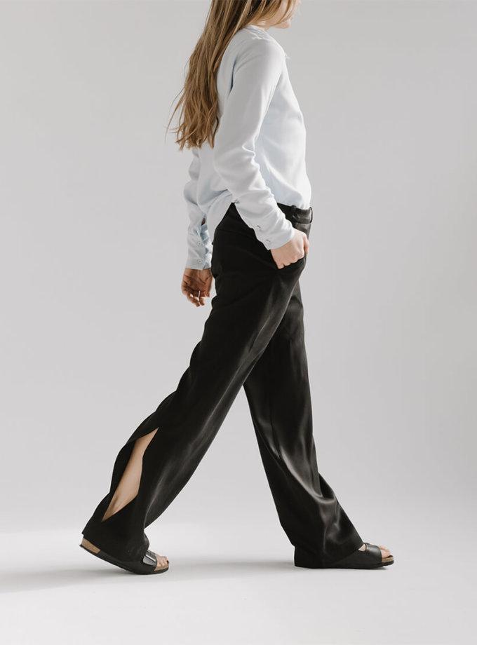Широкие брюки CHEE с разрезом FRM_XIM_01B_B, фото 1 - в интернет магазине KAPSULA