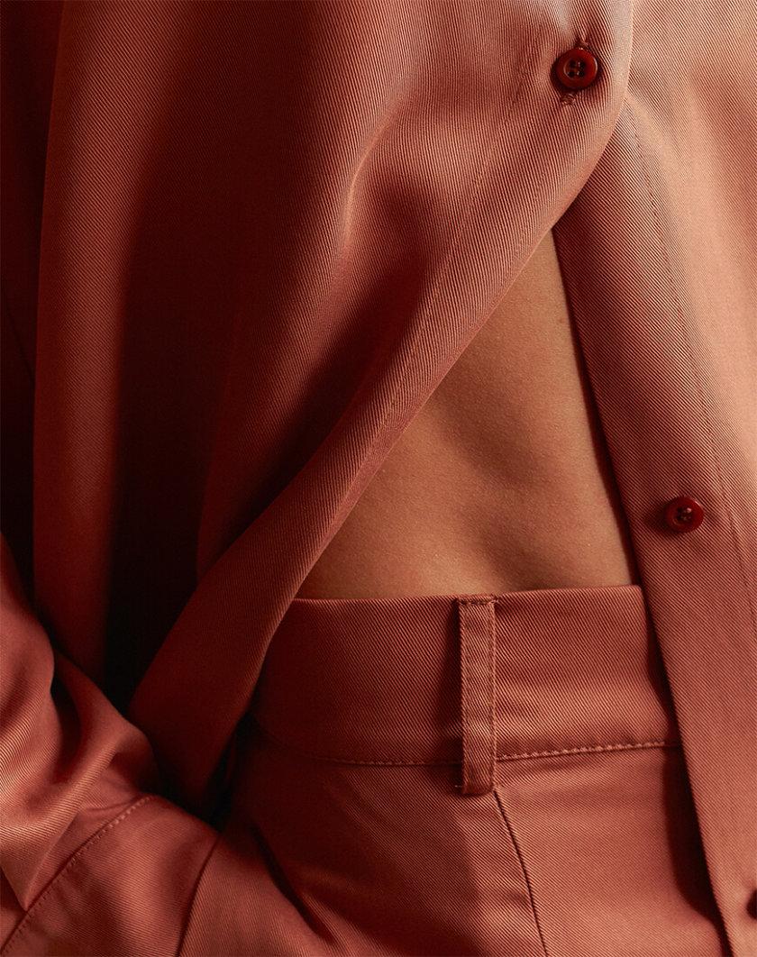 Узкие брюки из тенсела AD_220720, фото 1 - в интернет магазине KAPSULA