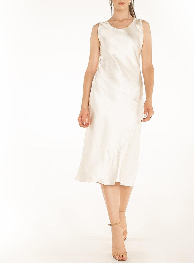 Сатиновое платье Beige WNDR_fw2021_sdbez_14, фото 1 - в интернет магазине KAPSULA