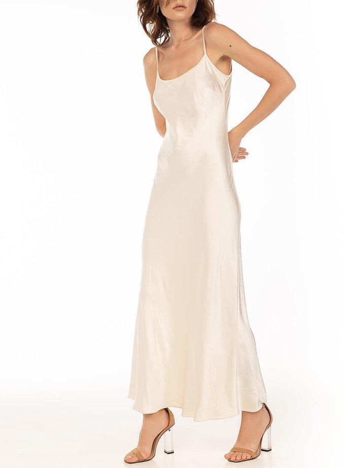 Платье с бретелями-цепями Beige WNDR_fw2021_sdcbez_15, фото 1 - в интернет магазине KAPSULA