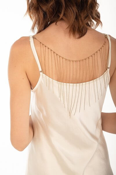 Платье cо съемным декором на спине WNDR_fw2021_sdrbezh_15, фото 1 - в интеренет магазине KAPSULA