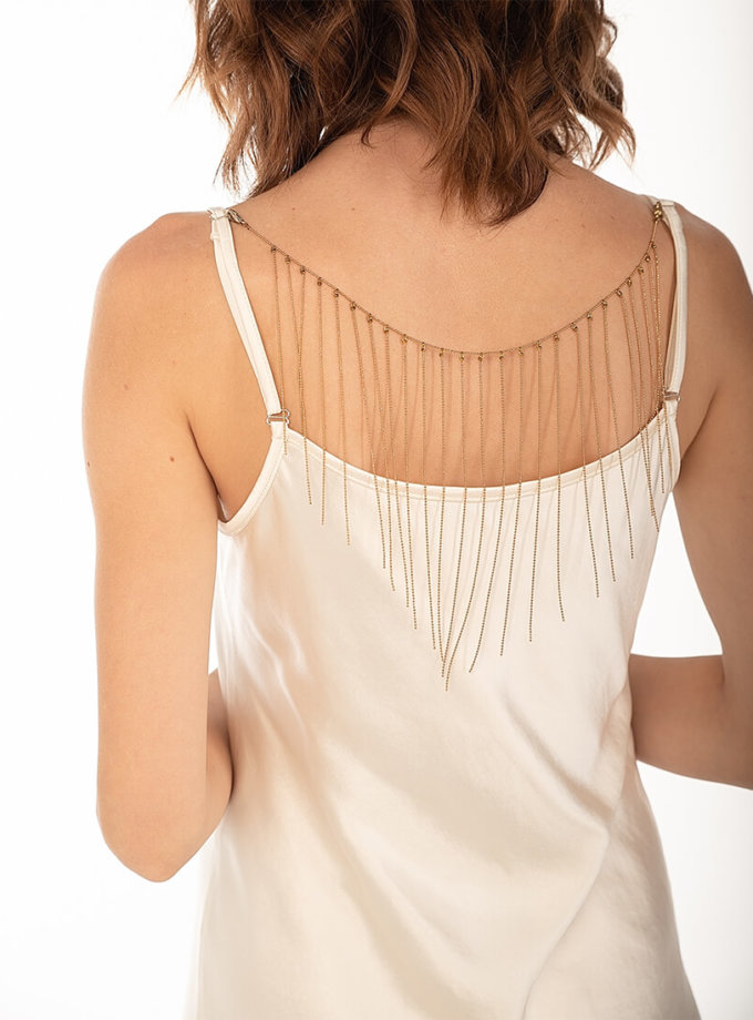 Платье cо съемным декором на спине Beige WNDR_fw2021_sdrbezh_15, фото 1 - в интернет магазине KAPSULA