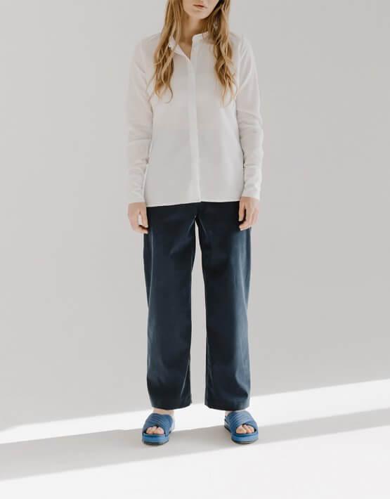 Широкие брюки CHEE с разрезом FRM_XIM_01B_N, фото 7 - в интеренет магазине KAPSULA
