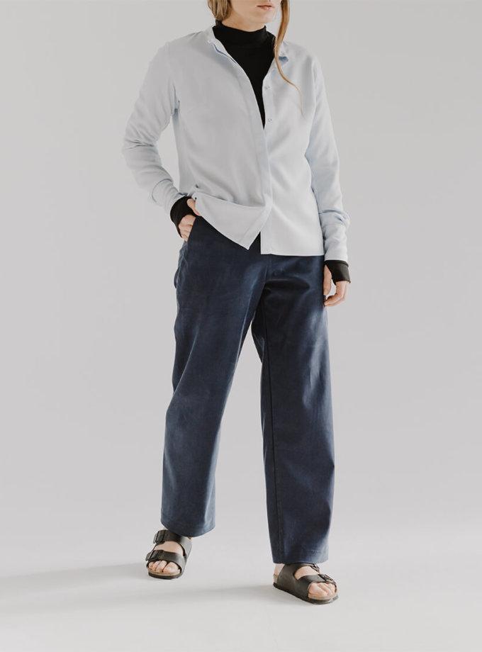 Широкі брюки CHEE з розрізом FRM_XIM_01B_N, фото 1 - в интернет магазине KAPSULA