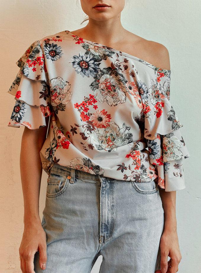 Блуза с рукавами-колоколами AD_030720, фото 1 - в интернет магазине KAPSULA