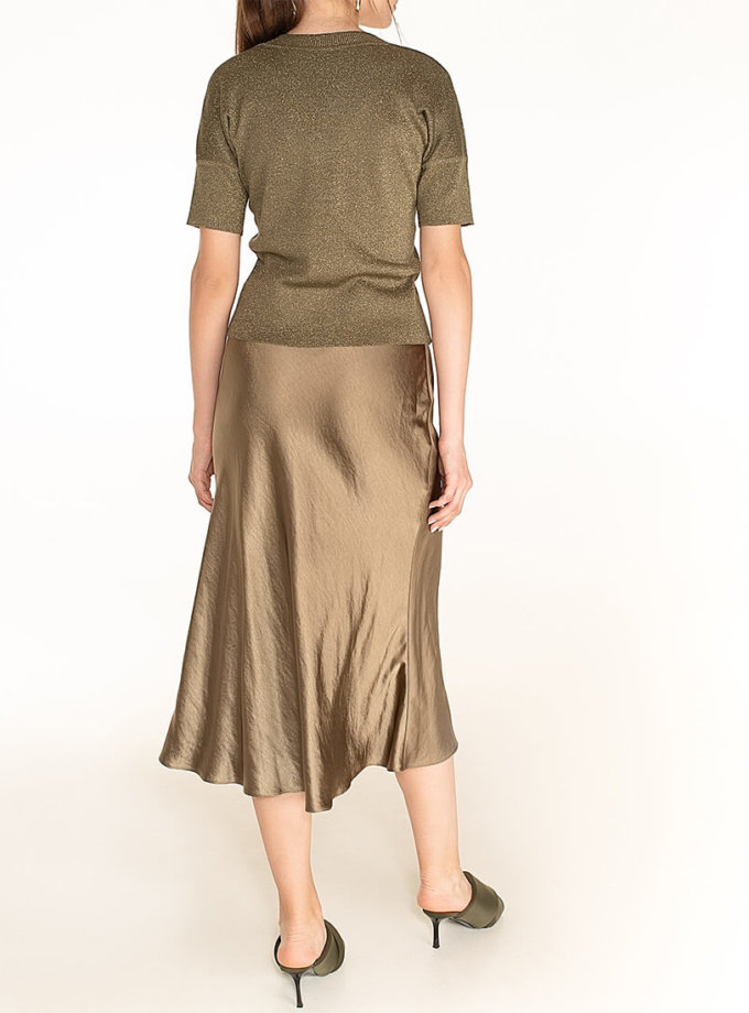 Сатиновая юбка Olive WNDR_fw2021_ssol_13, фото 1 - в интернет магазине KAPSULA