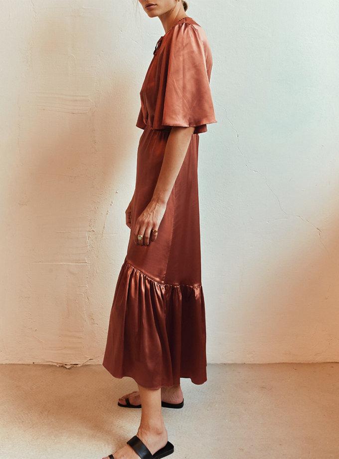 Шовкова сукня з рюшами AD_100720, фото 1 - в интернет магазине KAPSULA