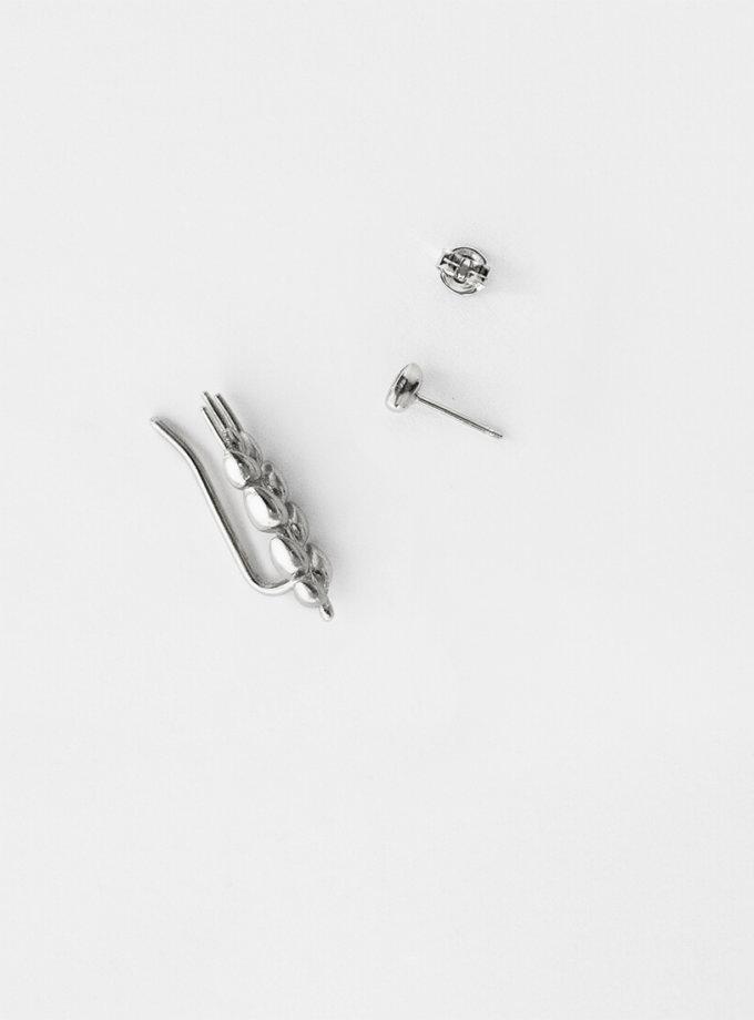 Асимметричные серьги серебряные Колосок короткий KVL_КРР03_A_s, фото 1 - в интеренет магазине KAPSULA