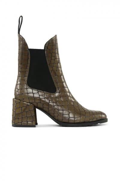 Ботинки челси из кожи с тиснением MRSL_177573, фото 5 - в интеренет магазине KAPSULA