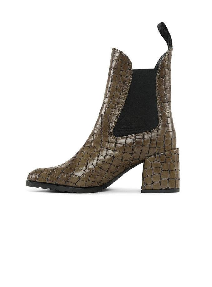 Ботинки челси из кожи с тиснением MRSL_177573, фото 1 - в интеренет магазине KAPSULA