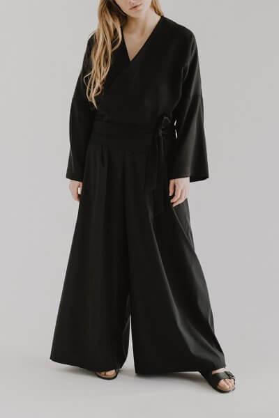Широкие брюки EVE с молнией сзади FRM_XIM_01C_B, фото 1 - в интеренет магазине KAPSULA
